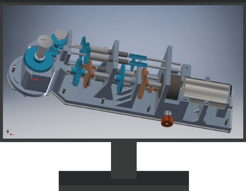 Mechanica gears and shafts 3D design