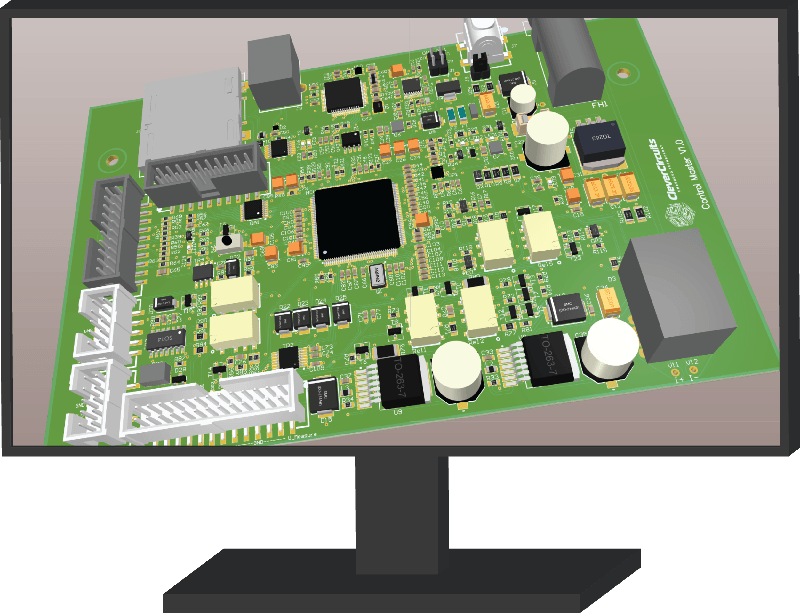 PCD 3D design inside pc screen