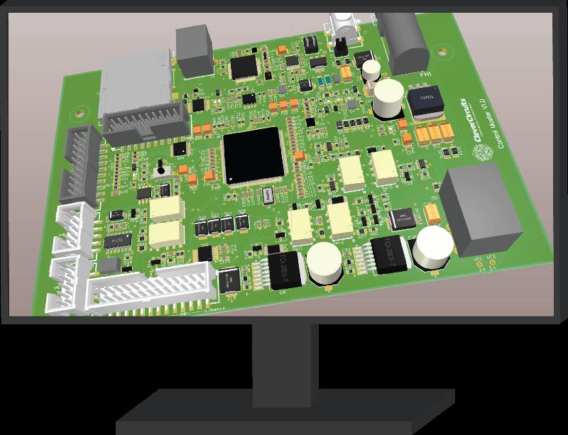 PCD 3D design inside pc screen
